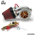 Turbo kits Mini Electric Turbo Supercharger Kit Air Filter Intake for all car Motorcycle AW20WMINI