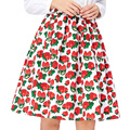 Summer Women Skirt 2016 Grace Karin Floral Polka Dot Printed High Waist Cheap Party Vintage Skater Pleated Skirt saia 50S Skirt