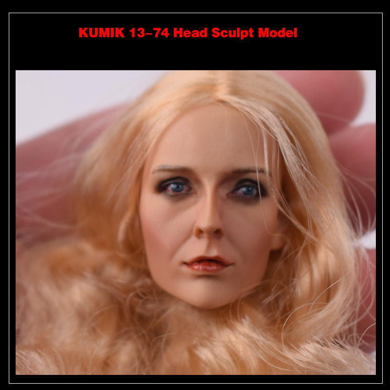KUMIK Head 1/6 Female Head Sculpt KM13-74 Girl Michelle Pfeiffer Head Sculpt Catwoman F 12