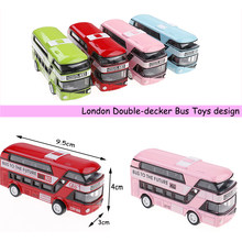 Double-decker Bus London Bus design Car Toys Sightseeing Bus Vehicles Urban Transport Vehicles Commuter vehicles(China)