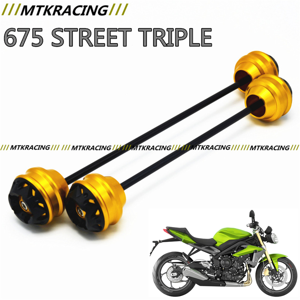 Free delivery for TRIUMPH 675 STREET TRIPLE 2009-2016 CNC Modified Motorcycle Front and rear wheels drop ball / shock absorber yuvraj singh negi biopolymers for targeted drug delivery systems