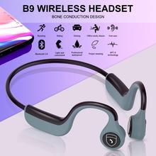 B9 Wireless Bluetooth 5.0 Stereo Headset Neck-strap Headphone Bone Conduction Hands-free Earphone Bluetooth Earphone With Mic цена