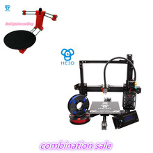 combination sale-NEWest HE3D EI3 single autolevel 3D printer diy kit,adding open sourse 3D scanner DIY kit