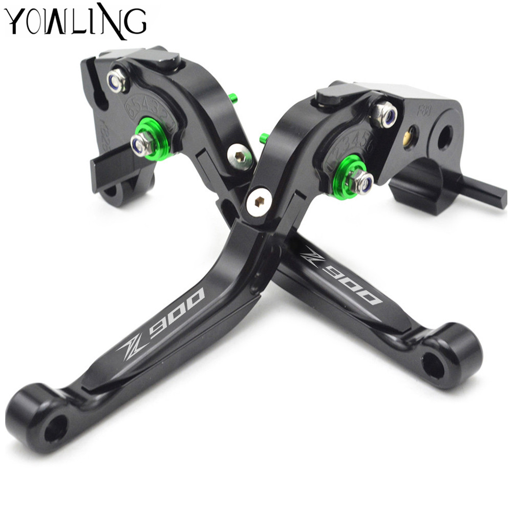 YOWLING Logo(Z900) For Kawasaki Z900 Z 900 2017 2018 CNC Adjustable Folding Extendable Motorcycle Brake Clutch Levers adjustable folding extendable brake clutch lever for kawasaki versys 1000 versys1000 14 15 free shipping with logo motorcycle