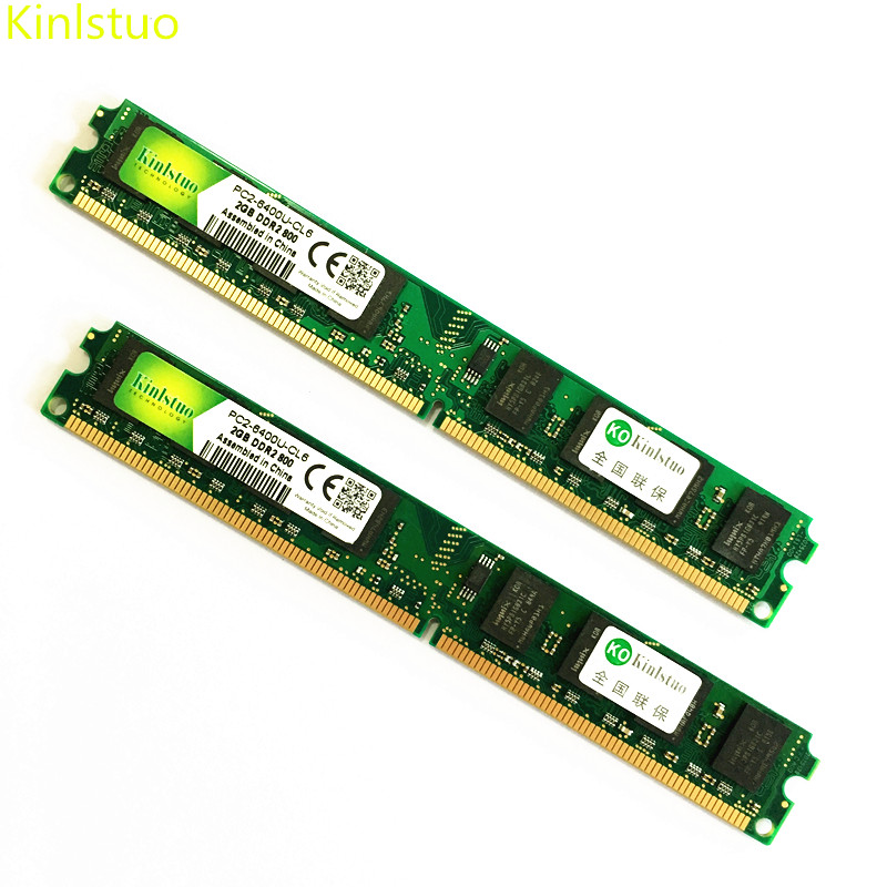 Kinlstuo DDR2 2GB memory 800MHz/667MHz/533MHz 2gb ddr2 1gb Rams New memories For intel & AMD kootion 2gb
