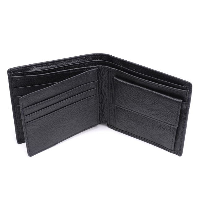 100% Genuine Leather Wallet Men New Brand Purses for men Black Brown Bifold Wallet RFID Blocking Wallets With Gift Box MRF7 4