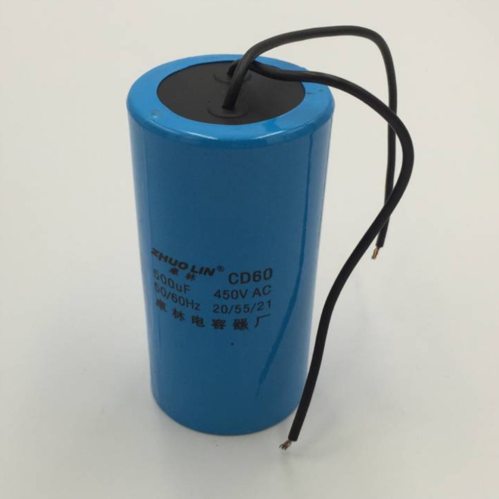 AC Motor Plastic Capacitor CD60 450VAC Machine Starting Running Capacitor