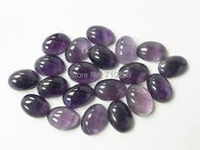 10 шт/лот amethys t quartz 15x20mm Овальный драгоценный камень