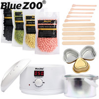 Waxing Kit Depilatory 500CC Hot Wax Hair Removal Machine and Hard Wax Beans 100g Pearl Wax Painless Depilacion Facial Body