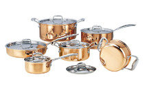 Cooking Tools DHL Free Shipping Stainless Steel Copper Cooking Pots With Frying Pan Stainless Pot Hot Pot And Pans Cookware Set
