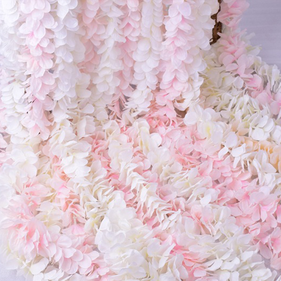 Image 5 - 100CM artificial Cherry blossom vine silk flowers Sakura for party Wedding ceiling decor fake garland arch ivy diy party decor-in Artificial & Dried Flowers from Home & Garden