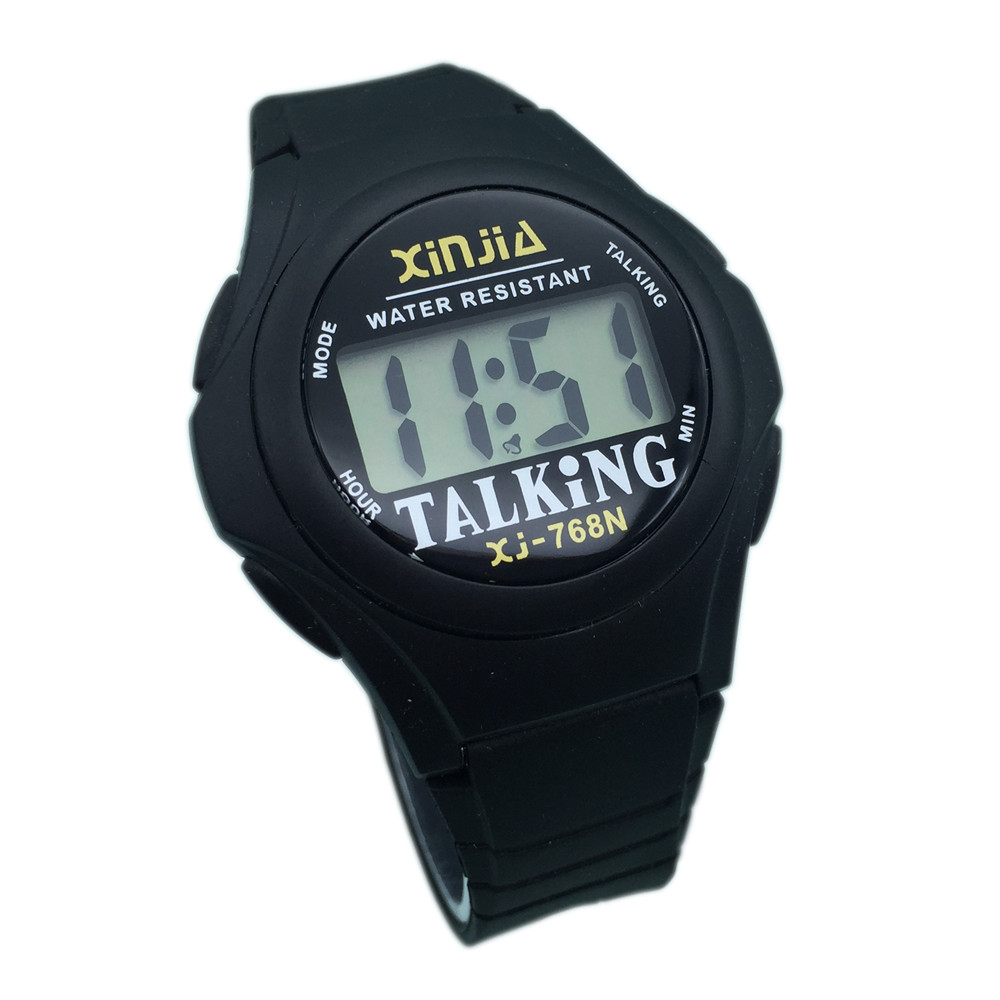 French Talking Watch For The Blind And Elderly And Visially Impaired People Electronic Sports Speak Watches 768TF