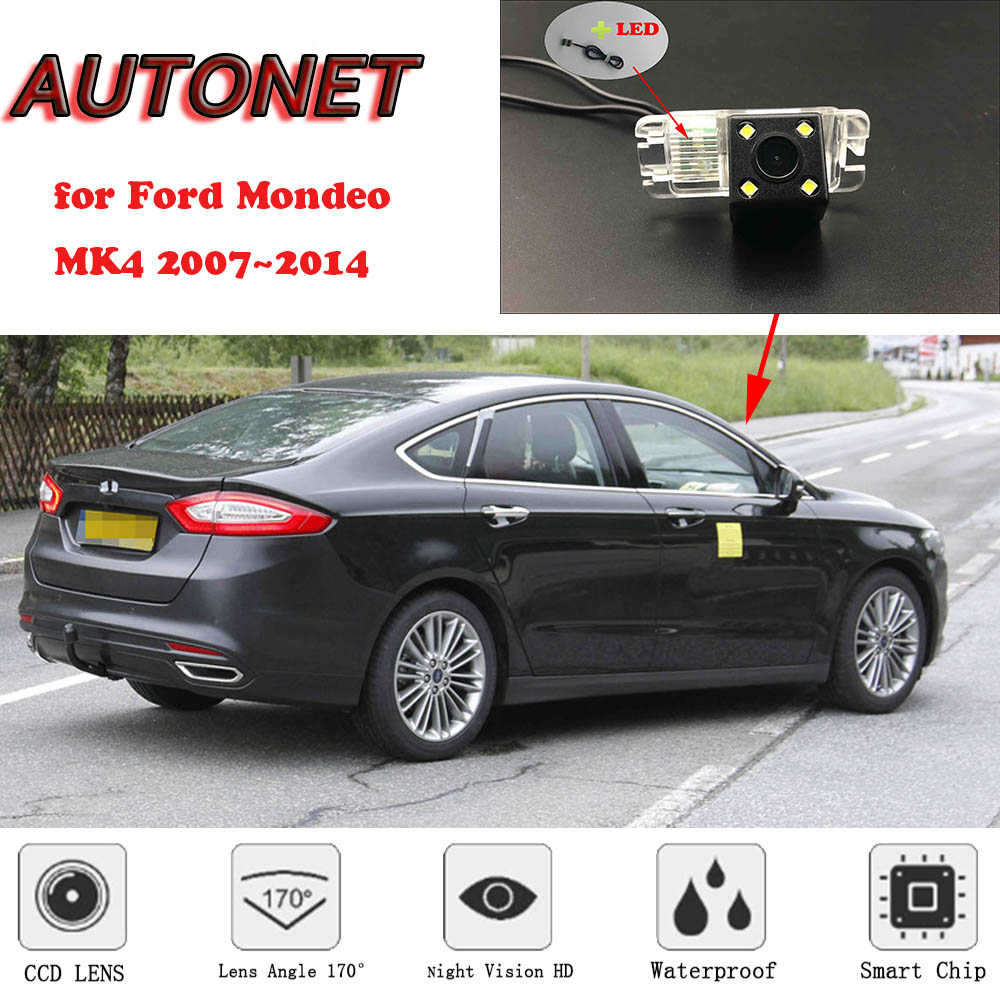 AUTONET Backup Rear View Camera For Ford Mondeo 2007 2008 2009 2010 2011 2012 2014 MK4 Night Vision/parking Camera Or Bracket