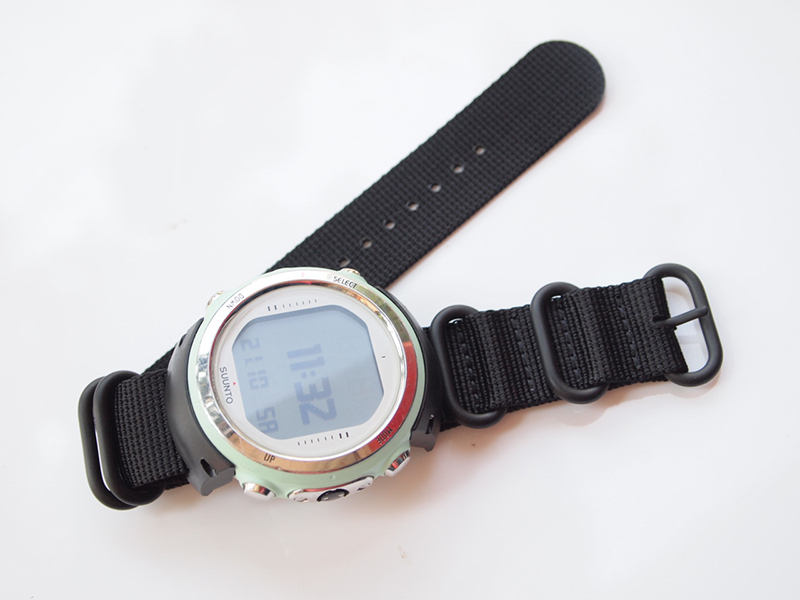 FOR D4 D4i Diving Computer Watch ABS Adapter+nylon Strap + Screwdriver