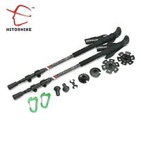 180g Pc Carbon Fiber External Quick Lock Trekking Pole Hike Telescope Stick Nordic Walking Stick Shooting
