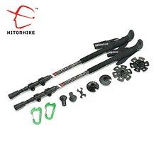 Discount! 210g/pc carbon fiber external quick lock Trekking pole hiking telescope stick nordic walking stick Shooting Crutch Senderismo