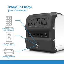 Портативный солнечный генератор360wh Источник питания переменного тока AC 110V 220V Резервная аккумуляторная батарея упаковка 12V электростанция для CPAP кемпинга