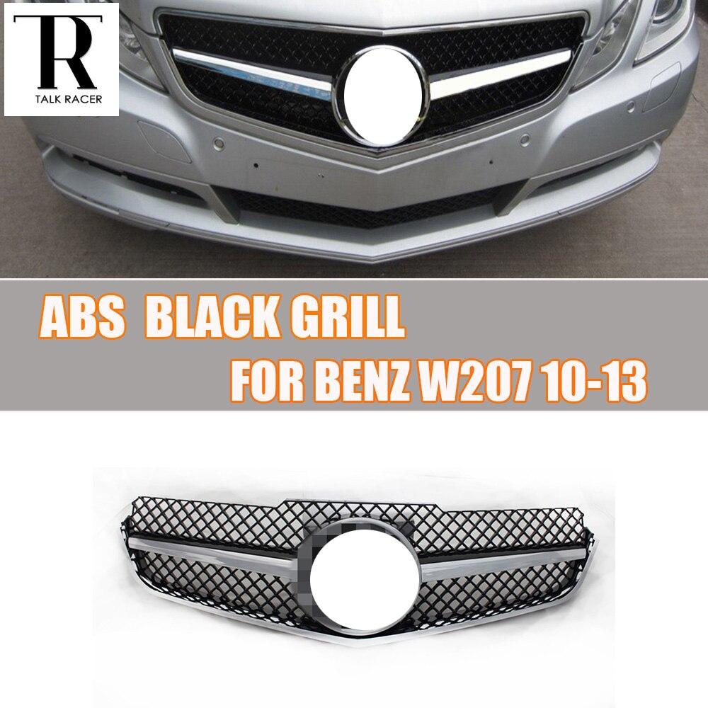 W207 C207 купе ABS черный бампер передний гриль решетка для Benz E260 E300 E350 Coupe 2010 2011 2012 2013