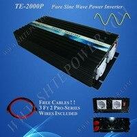 12 В 220 В 2000 Вт Бесплатная доставка решетки солнечных Мощность инвертор, чистая волна конвертер 2kw
