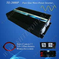 12v 220v 2000w free shipping Off Grid Solar Power Inverter, Pure wave converter 2kw