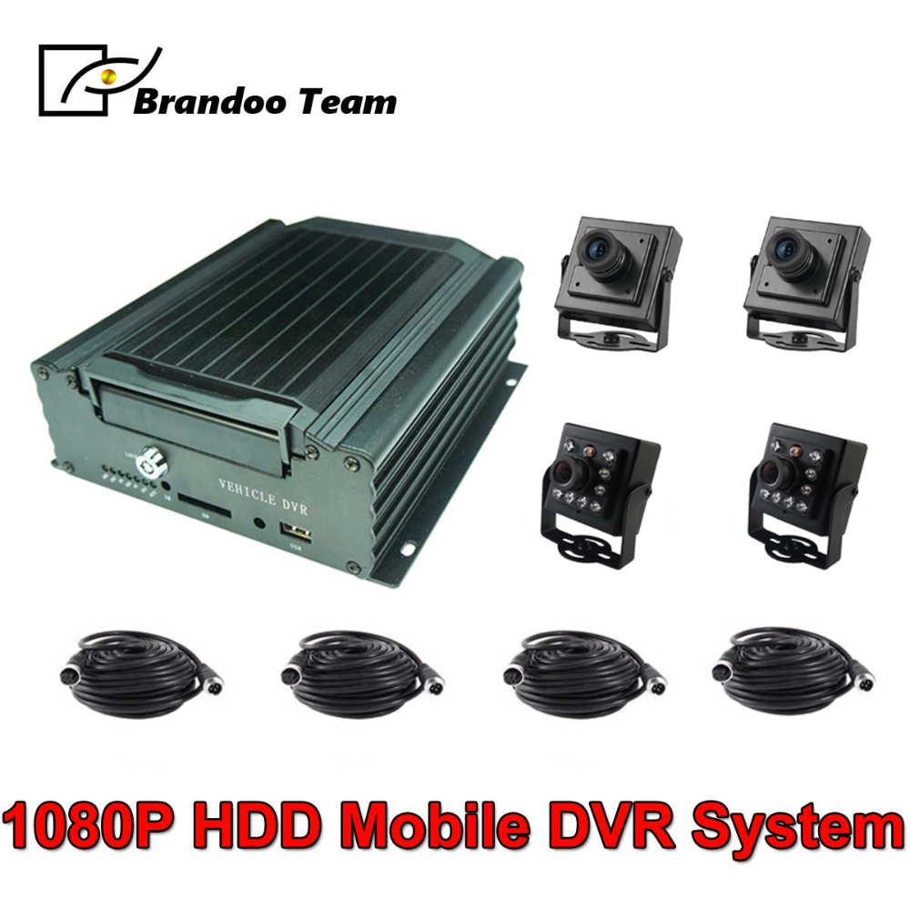 4 Channel Vehicle Security Camera System 1080P Mobile DVR