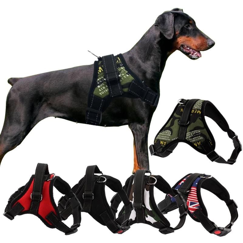 Pettorina per cani riflettente resistente per cani imbracatura per cani di grossa taglia regolabile imbracatura per animali domestici per cani di taglia medio-piccola Pitbull 1