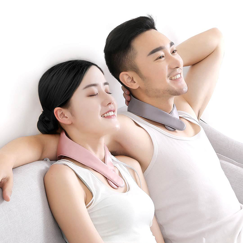Xiaomi Original PMA Graphene Neck Massage Portable Breathable Silk Material Office Home Cervical Vertebra Decompression Massage sexy v neck silk material pajamas set in green