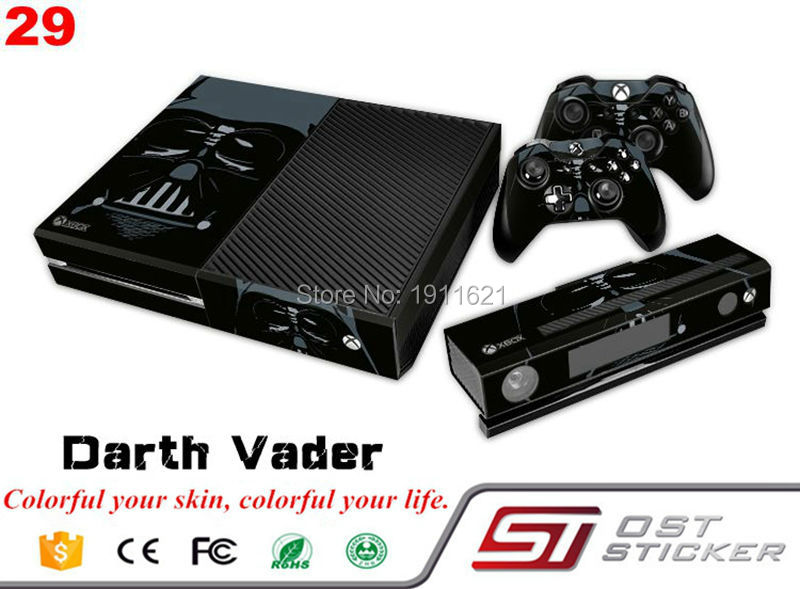 Custom for Microsoft XBOX One Console Vinyl Sticker Decal 2 Controller Skins Sticker For Xbox One Console Stickers
