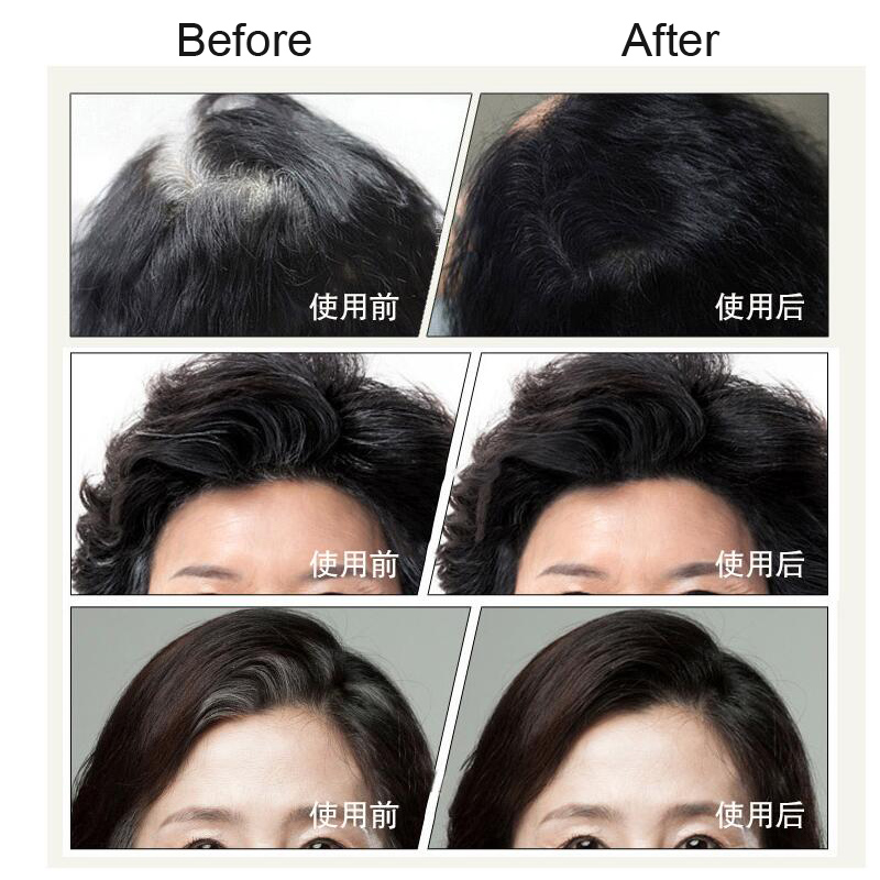 Instant Gray Root Coverage Hair Color Modify Cream Stick Temporary Cover Up White Colour Dye Long Wear