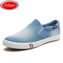 2019 New Denim Canvas Men Casual Shoes Man Sneakers Slip-on Loafers Men High Quality Summer Breathable Comfortable Driving Shoes new high quality men s vulcanize shoes breathable spring summer men casual canvas shoes slip on flat shallow men sneakers