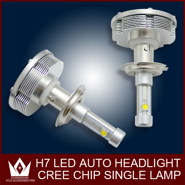 Guang Dian car led light Headlight Headlamp Conversion Car Kit car headlight H7 3000LM 12V Aluminum Alloy IP68 6000K 30W bright