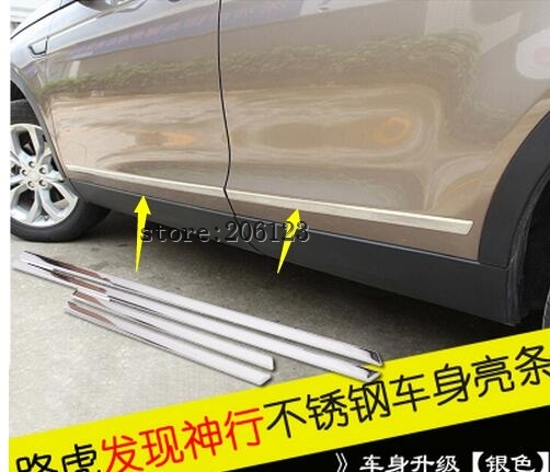 High Quality Black PP Rear Bumper Diffuser,Auto Car rear lip with chrome line for Landrover discovery sport 2014 2015 2016 2017