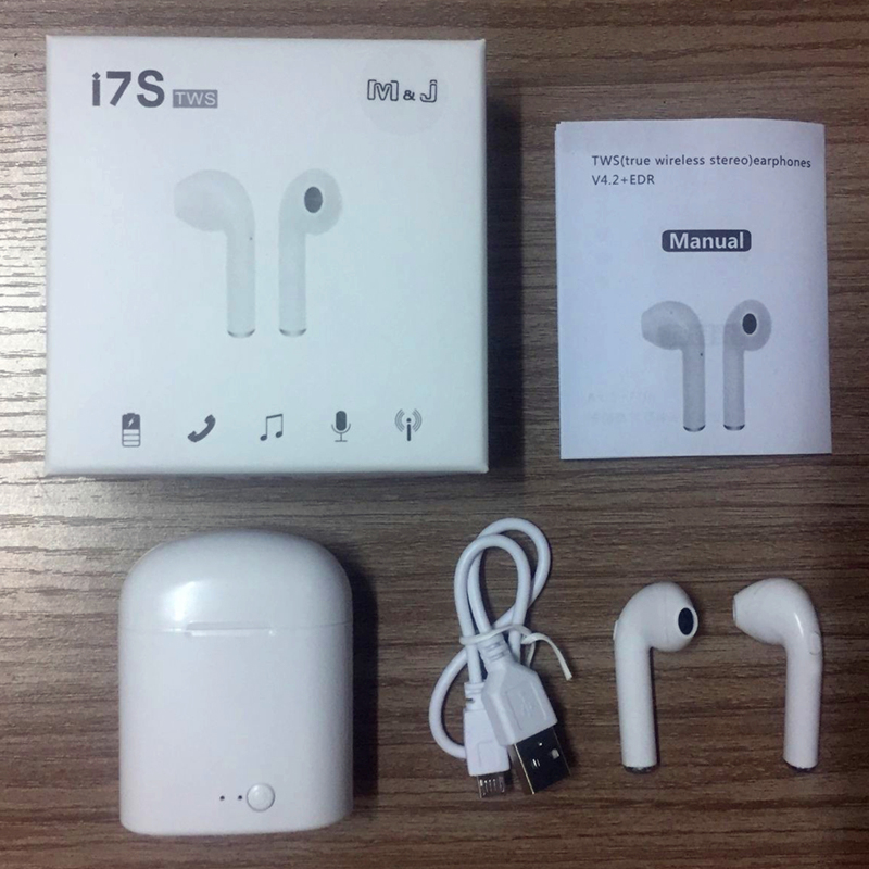 HTB1ETqZiRmWBuNkSndVq6AsApXas - M&J i7s TWS Mini Wireless Bluetooth Earphone Stereo Headphone With Charging Box Mic