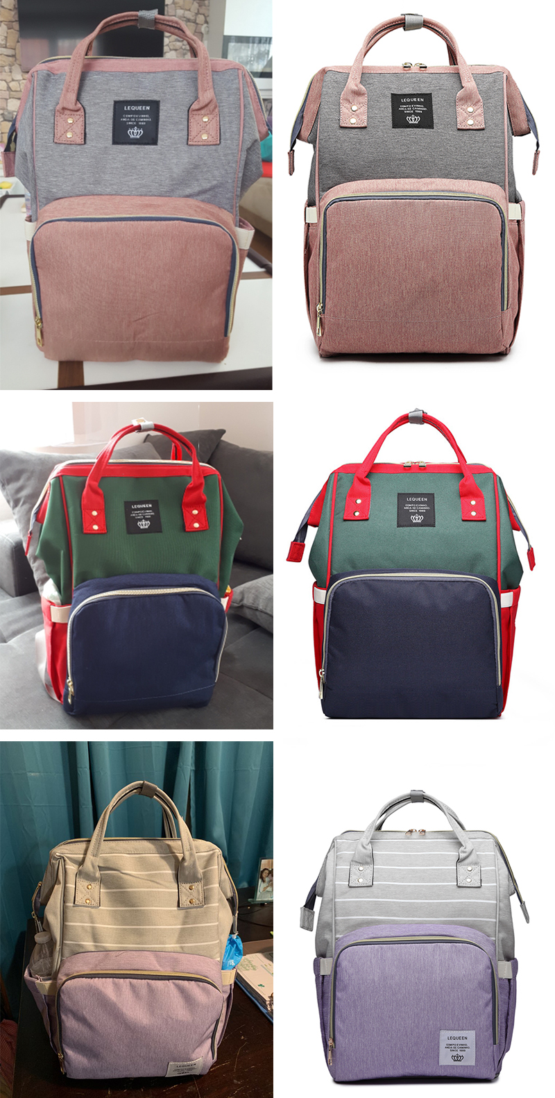 HTB1ETqfUNTpK1RjSZR0q6zEwXXaS Lequeen Mommy Diaper Bag Baby Mummy Carriage Backpack Mother Changing Bag Maternity Bag Care Stroller Large Capacity Nappy Bag