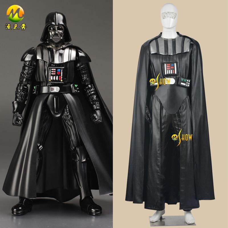 Cosplay de Star Wars Darth Vader Darth Vader Star Wars Adulto Trajes Outfit Halloween Party Carnaval Vestuário Traje Para Os Homens