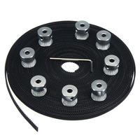 Brand NEW 10m 33ft 20T GT2 Timing Belt 6mm Wide 10X Pulley For 3D Printer CNC