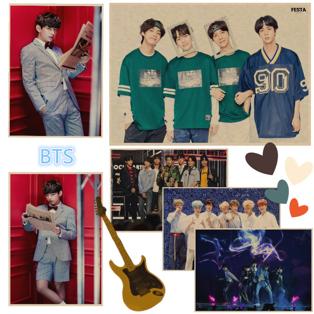 US $1 68 |BTS Festa 2018 Poster K Pop Paper Print Retro kraft Art poster  Home Decoration High Definition wall stickers Living Room A12-in Wall