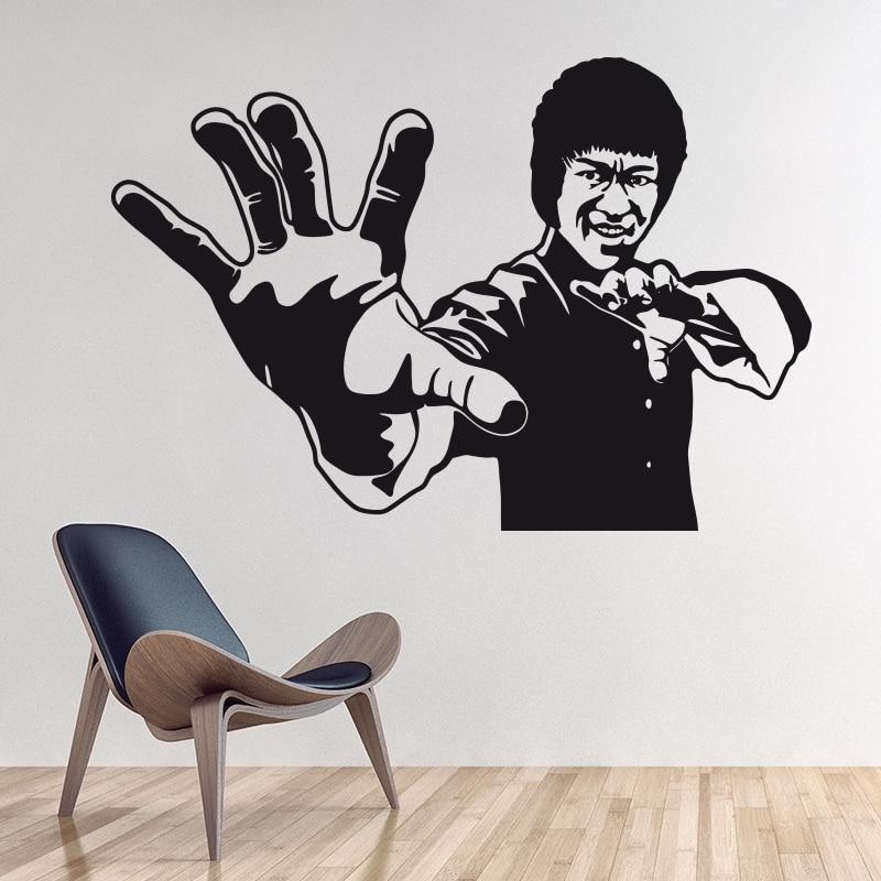 Художественный Декор Брюс Ли наклейки на стену виниловые кинозвезды 3D настенные наклейки «сделай сам» украшение дома для liveing детская комн...