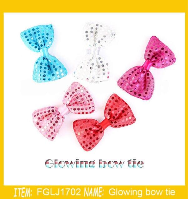100pcs/lot Design Fashion Light Color Light Up LED Bow Tie glowing ...