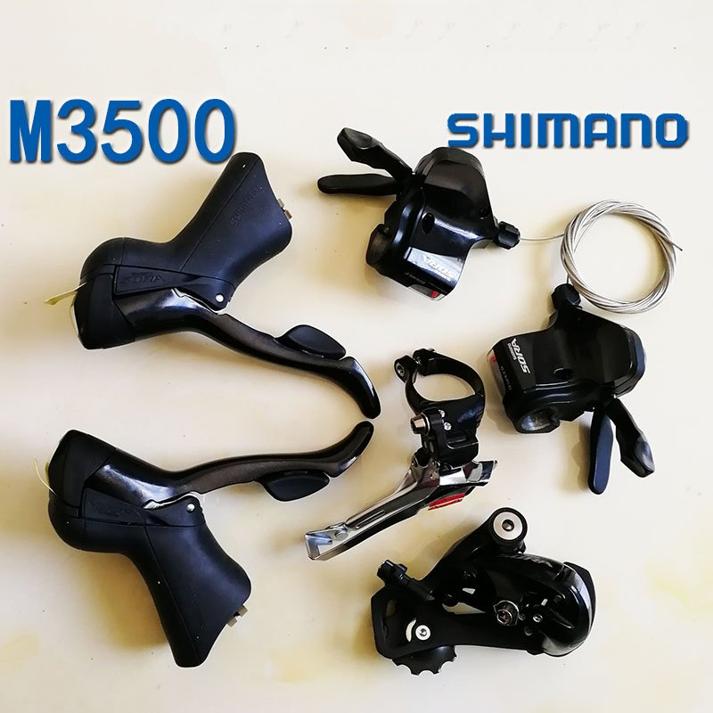 Shimano 3500 Bicycle Derailleur 9S 27S Road Bike Derailleur Shifter+Front Derailleur+ Rear Derailleur Groupset bike rear derailleur r9 double 9 speed derailleur road bike groupset for shimano sram