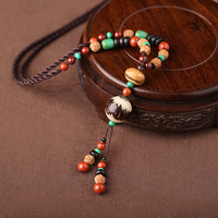 National wind necklace wild ornaments pendant clothing accessories Bodhi pendant jewelry long retro sweater chain summer