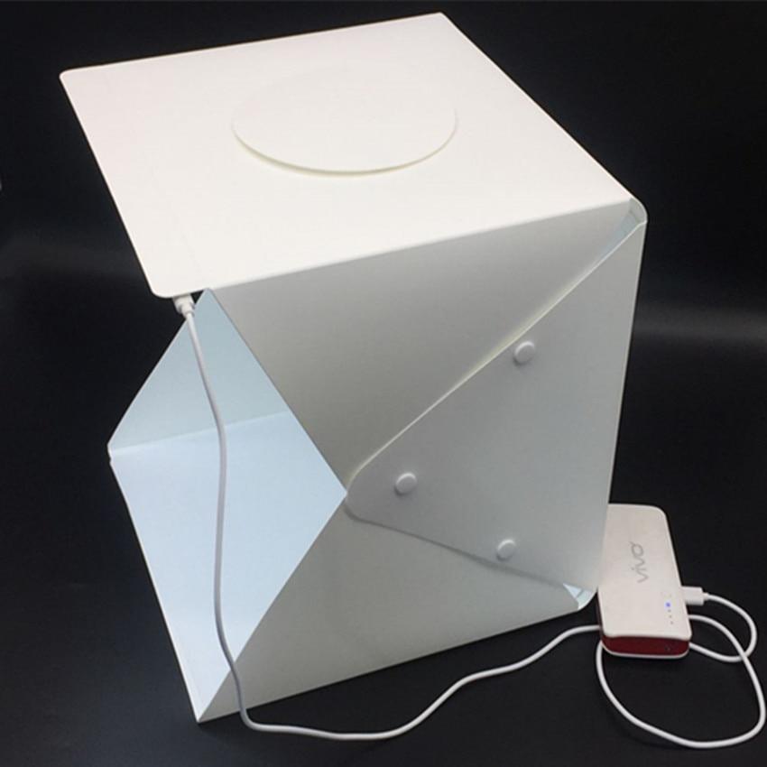 Baolyda 30cm mini Folding Lightbox Photography Studio Softbox LED Light  Soft Box Camera Photo Background Box Lighting Tent Kit