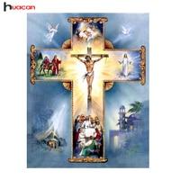 Gorąca Sprzedaż 5D Diament Malarstwo Cross Stitch Religie Igła DIY Christian Jezus Diament Mozaika Haft Zestawy Kościół Dekoracji