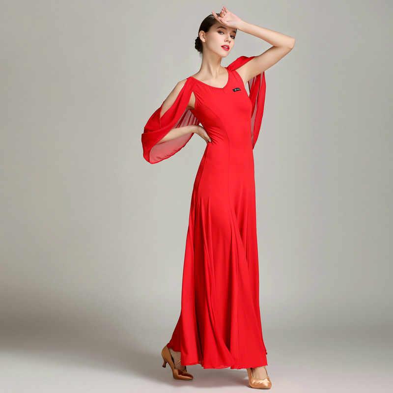 Новый плавающий пряжа современный танец платье GB бальное платье большое платье