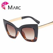 MARC Designer Sunglasses Women 2018 High Quality Vintage Round Oversize Soleil Oculos irregular Butterfly Sun Glasses For