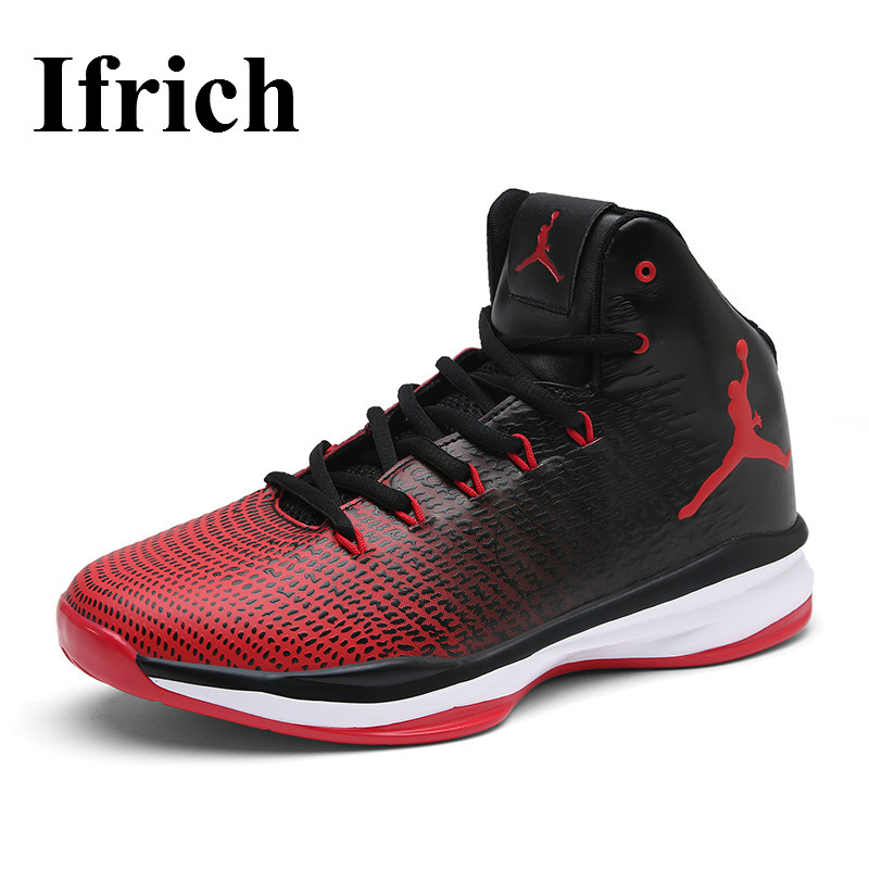 Ifrich Couples Brand Sneaker Shoes Men And Women Quality Mens Sneakers For Basketball Sport Cool Basketball High Top Shoes Men peak sport speed eagle v men basketball shoes cushion 3 revolve tech sneakers breathable damping wear athletic boots eur 40 50