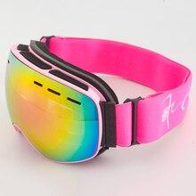 Детские лыжные очки с двойными линзами, противотуманные очки для сноуборда, зимние очки gafas de esqui skibril, детские лыжные очки для мальчиков и девочек