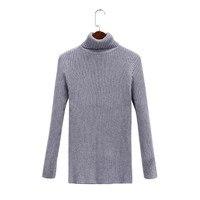 Платье с открытыми плечами большой размер женский стрейч водолазка свитер женский вязаный свитер большого размера пуловер Mujer черный белый