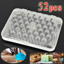 52Pcs/set Russian Icing Piping Nozzles Cake Decoration Tips 3d printer nozzle Biscuits Sugarcraft Pastry Baking Tool DIY