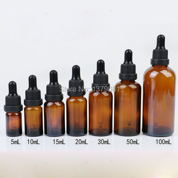5ml,10ml,15ml,20ml,30ml,50ml,100ml Brown Glass Bottles with Dropper Essential Oil Bottle Black Rubber DIY Sample Vials 5ml 10ml 15ml 20ml 30ml 50ml 100ml diy black glass empty essential oil bottle high grade glass empty liquid dropper bottle